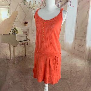 Anthropologie Moth Orange Knitted Dress